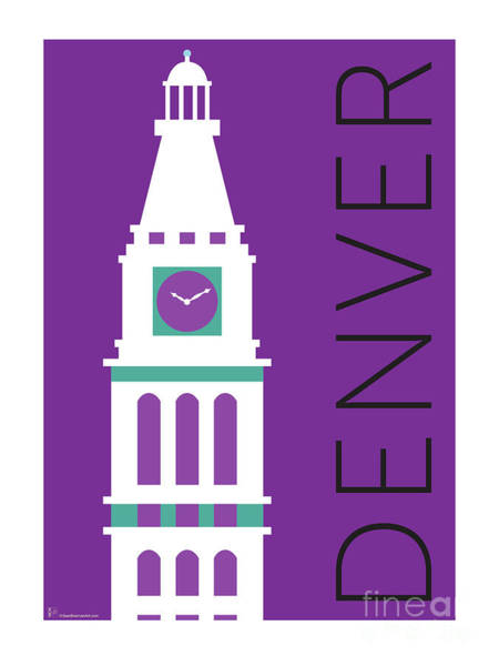 Digital Art - Denver D And F Tower/purple by Sam Brennan