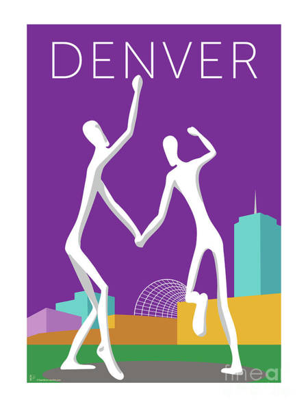 Digital Art - Denver Dancers/purple by Sam Brennan