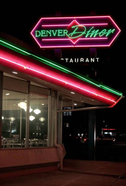 Neon Pink Photograph - Denver Diner by Jeffery Ball