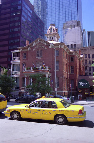 Photograph - Denver Downtown With Yellow Cab by Frank Romeo