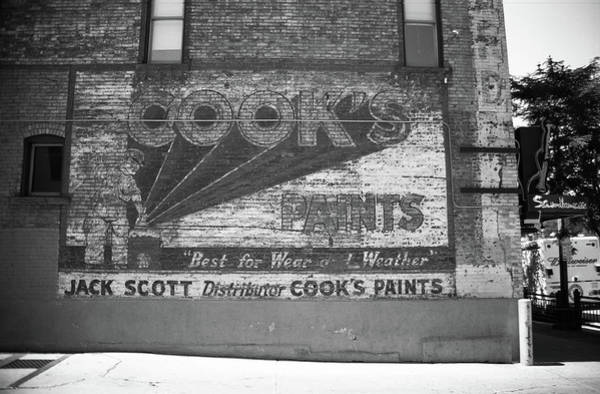 Photograph - Denver Ghost Mural Bw 2005 by Frank Romeo