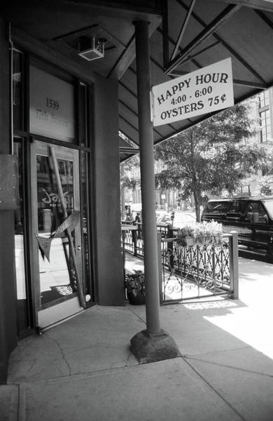 Photograph - Denver Happy Hour Bw 2005 by Frank Romeo