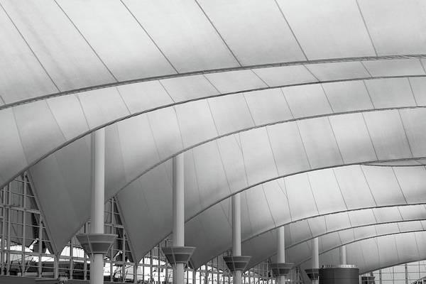 Wall Art - Photograph - Denver International Airport Roof B W by Steve Gadomski