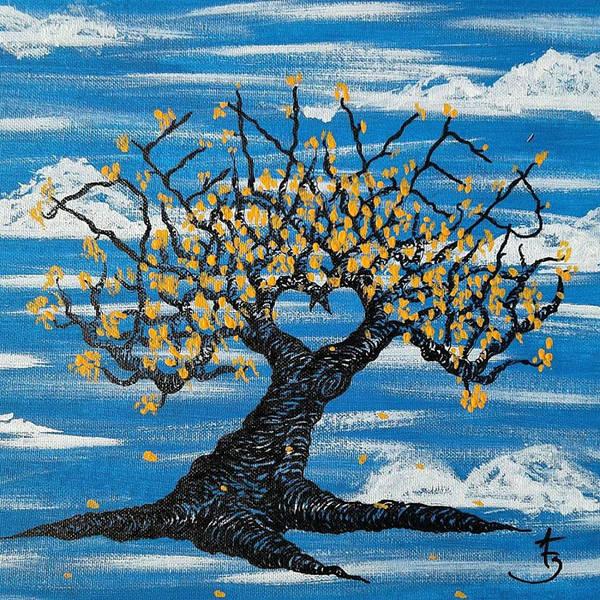 Drawing - Denver Love Tree by Aaron Bombalicki