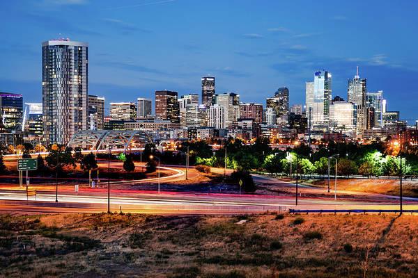Photograph - Denver Mile High Skyline by Gregory Ballos