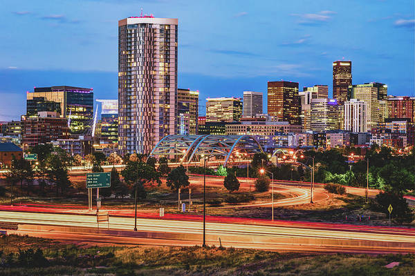 Photograph - Denver Morning Skyline by Gregory Ballos