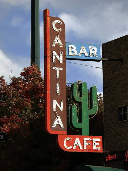 Cantina Photograph - Denver Neon 2 by Frank Romeo