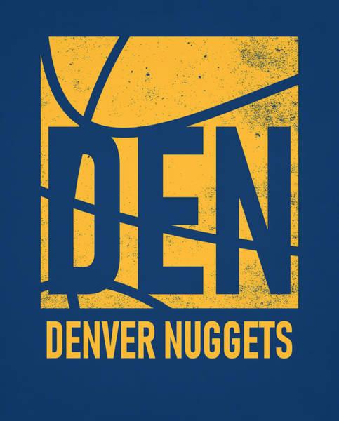 Wall Art - Mixed Media - Denver Nuggets City Poster Art by Joe Hamilton