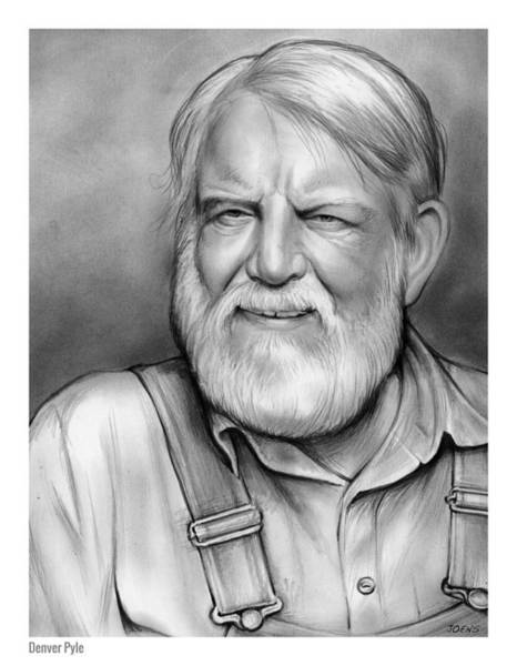 Drawing - Denver Pyle by Greg Joens