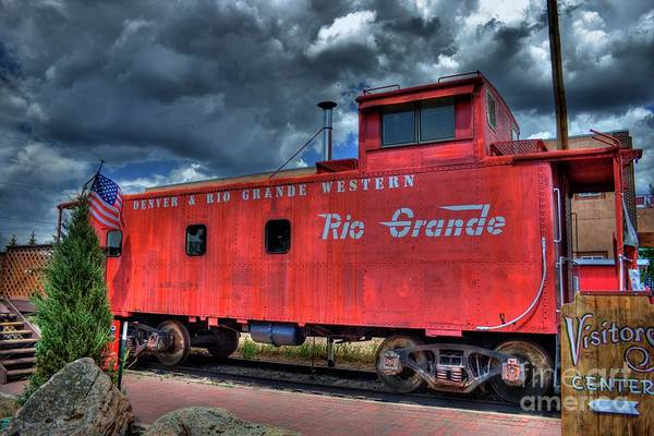 Red Caboose Photograph - Denver Rio Grande Western by Tony Baca