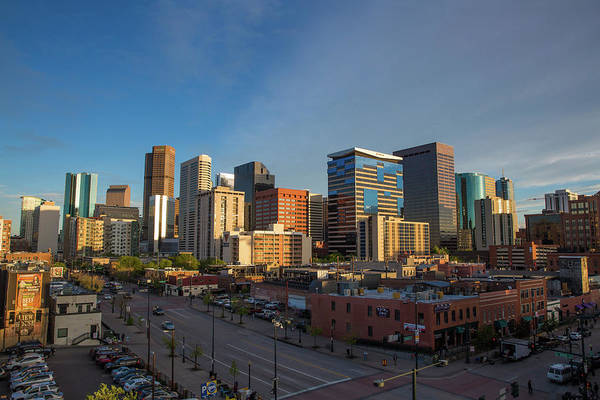 Mile High City Photograph - Denver Skyline From Lower Downtown In The Springtime by Bridget Calip