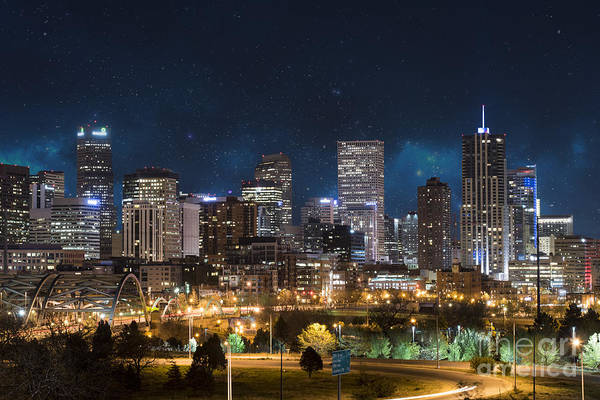 Mile High City Photograph - Denver Under A Night Sky by Juli Scalzi