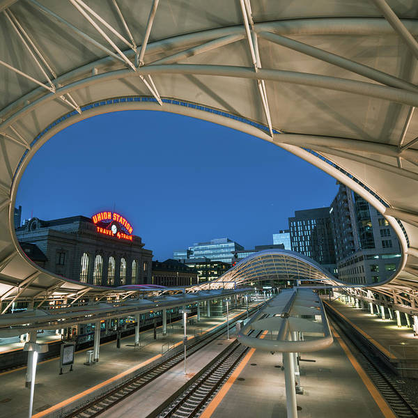 Photograph - Denver Union Station - Square Format by Gregory Ballos