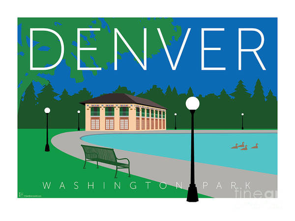 Digital Art - Denver Washington Park by Sam Brennan