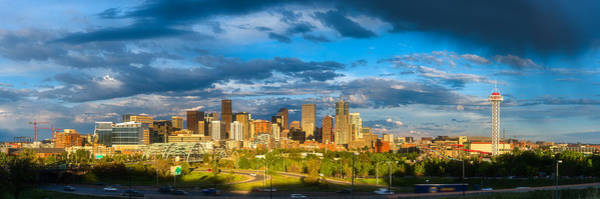 Photograph - Denver's Golden Light by Darren  White
