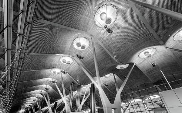 Photograph - Departure Lounge Madrid Airport by Gary Gillette