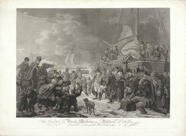 Meijer Painting - Departure Of Prince William V, 1795, Joannes Bemme, After Dirk Langendijk, After Christoffel Meijer, by Christoffel Meijer