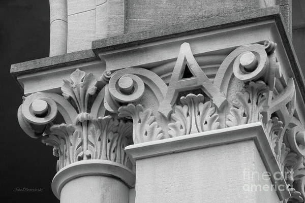 Photograph - Depauw University East College Detail by University Icons