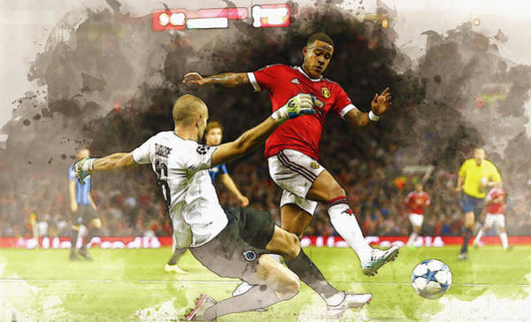 Manchester United Fc Wall Art - Digital Art - Depay In Action by Don Kuing
