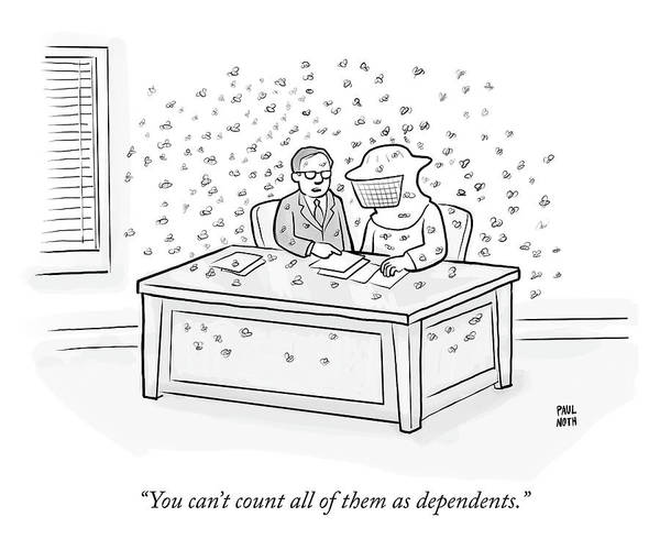 Bees Drawing - Dependents by Paul Noth