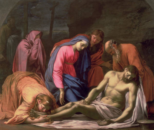 Lamb Of God Wall Art - Painting - Deposition by Eustache Le Sueur