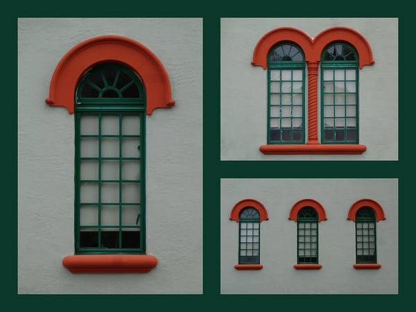 Photograph - Depot Windows Collage One by Kathy K McClellan