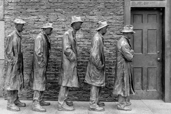 Photograph - Depression Breadline Sculpture by SR Green