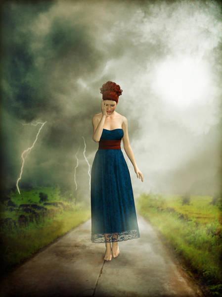 Cloud Mixed Media - Depression by Britta Glodde