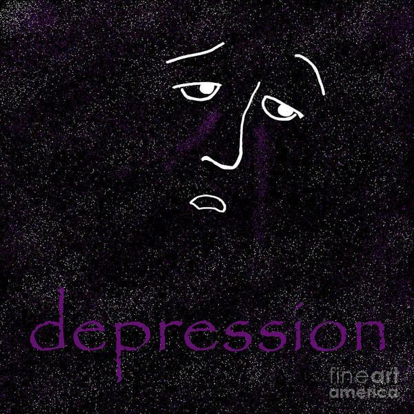 Depressed Digital Art - Depression by Methune Hively