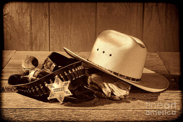 Photograph - Deputy Sheriff Gear  by American West Legend By Olivier Le Queinec