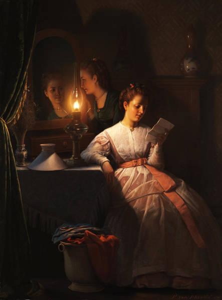 Painting - Der Liebesbrief by Petrus Van Schendel