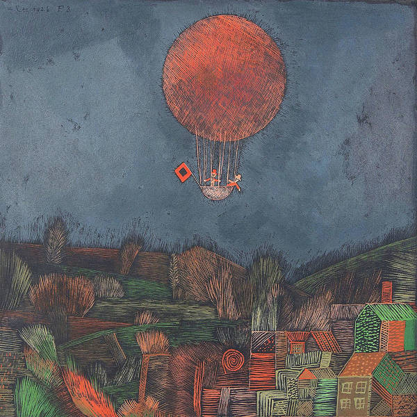 Painting - Der Luftballon The Balloon By Paul Klee 1926 by Paul Klee