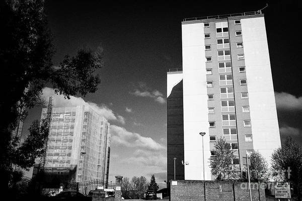 Wall Art - Photograph - Derby House And Other High Rise Tower Blocks Scholes Village Wigan England Uk by Joe Fox
