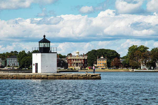 Photograph - Derby Wharf Light And Custom House by Jeff Folger