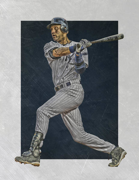 Wall Art - Mixed Media - Derek Jeter New York Yankees Art 2 by Joe Hamilton