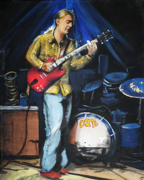 The Allman Brothers Band Wall Art - Painting - Derek by Lia Littlewood