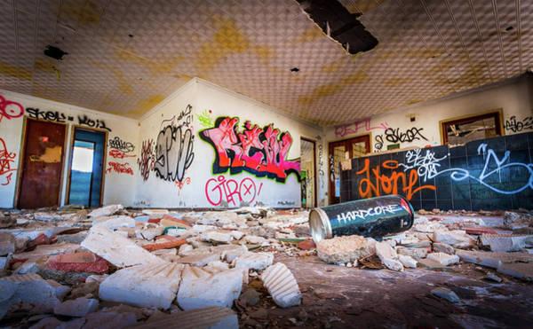 Photograph - Derelict Campsite Building. by Gary Gillette