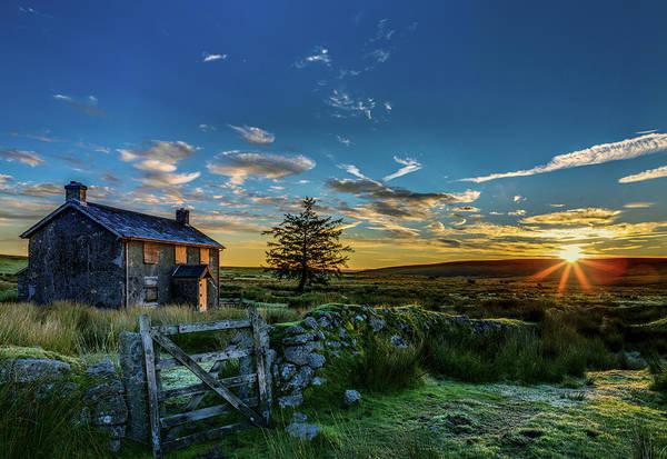 Farmstead Photograph - Derelict Cottage Nun's Cross, Dartmoor, Uk. by Maggie McCall