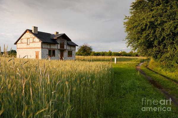 Wall Art - Photograph - Derelict Disused House In Field by Arletta Cwalina