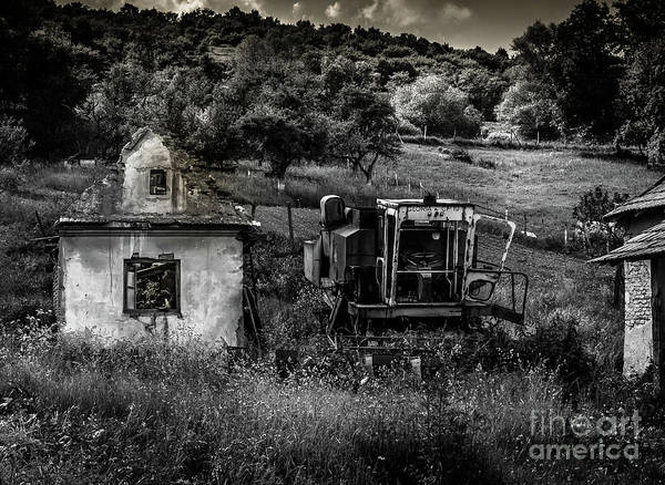 Art Print featuring the photograph Derelict Farm, Transylvania by Perry Rodriguez