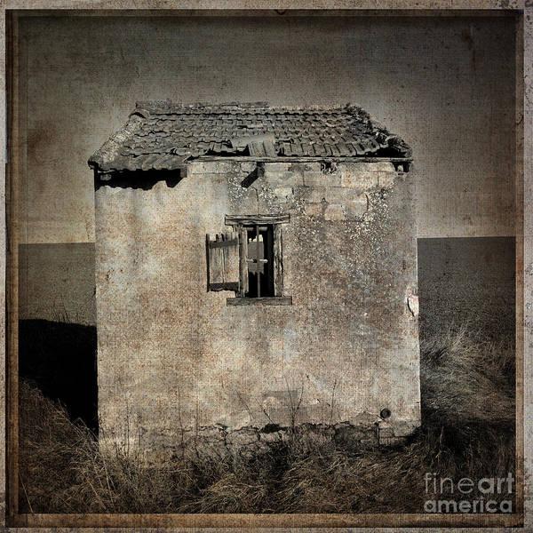 Derelict Wall Art - Photograph - Derelict Hut  Textured by Bernard Jaubert