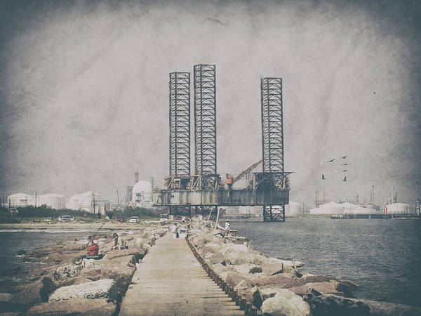 Photograph - Derelict Oil Rig by Charles McKelroy