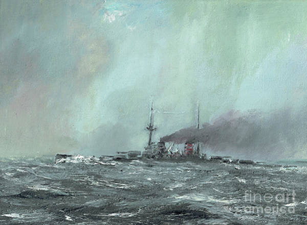 Cruiser Painting - Derfflinger 1916 by Vincent Alexander Booth