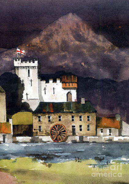 Painting - Deridelsford Castle Bray 1259ad by Val Byrne