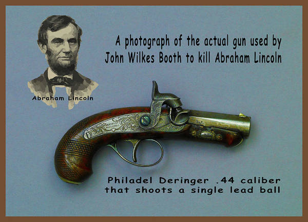 Photograph - Derringer Gun John Wilkes Booth Used To Assassinate Abraham Lincoln by Floyd Snyder