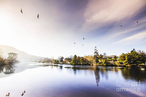 Norfolk Photograph - Derwent River Reflections by Jorgo Photography - Wall Art Gallery