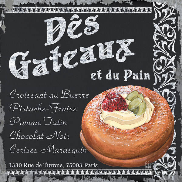 Brasserie Wall Art - Painting - Des Gateaux by Debbie DeWitt