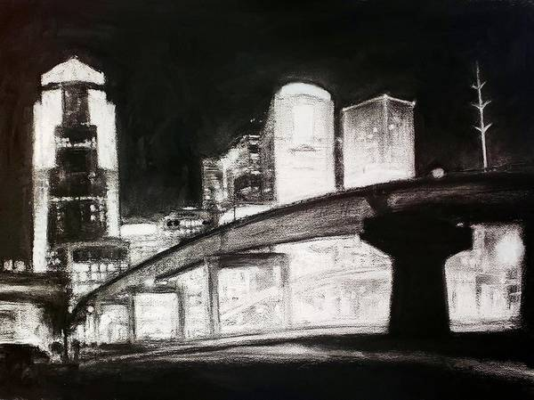 Drawing - Des Moines Skyline #10 by Robert Reeves