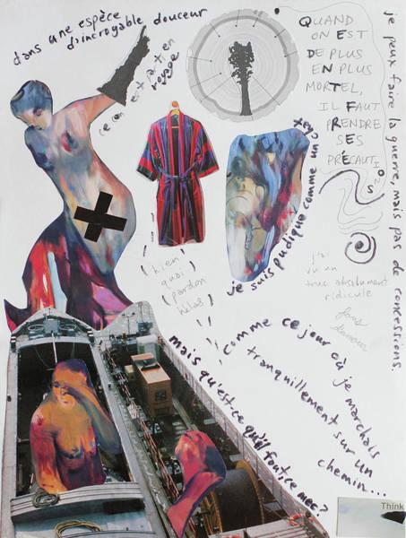 Paper Dress Mixed Media - The Trinity - Beauty, Vanity, Regret by Marcy Andersen