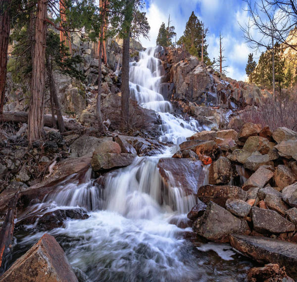 Herron Photograph - Descent At Eagle Falls by Mike Herron